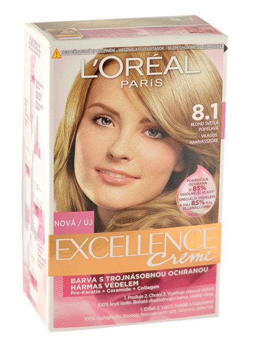 L´Oréal Paris Excellence Creme Cosmetic 1ml 8,1 Natural Ash Blonde