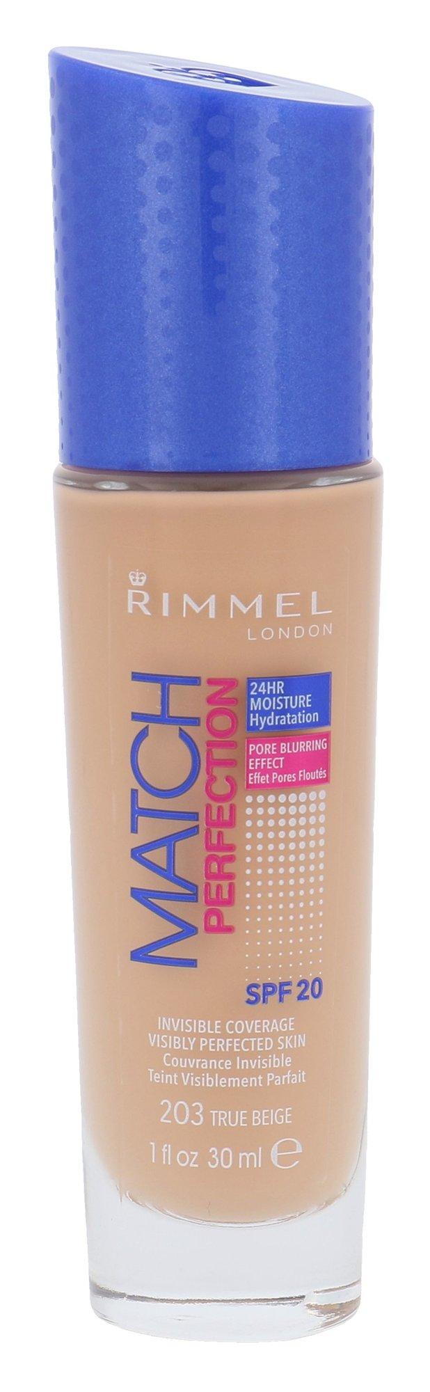Rimmel London Match Perfection Cosmetic 30ml 203 True Beige