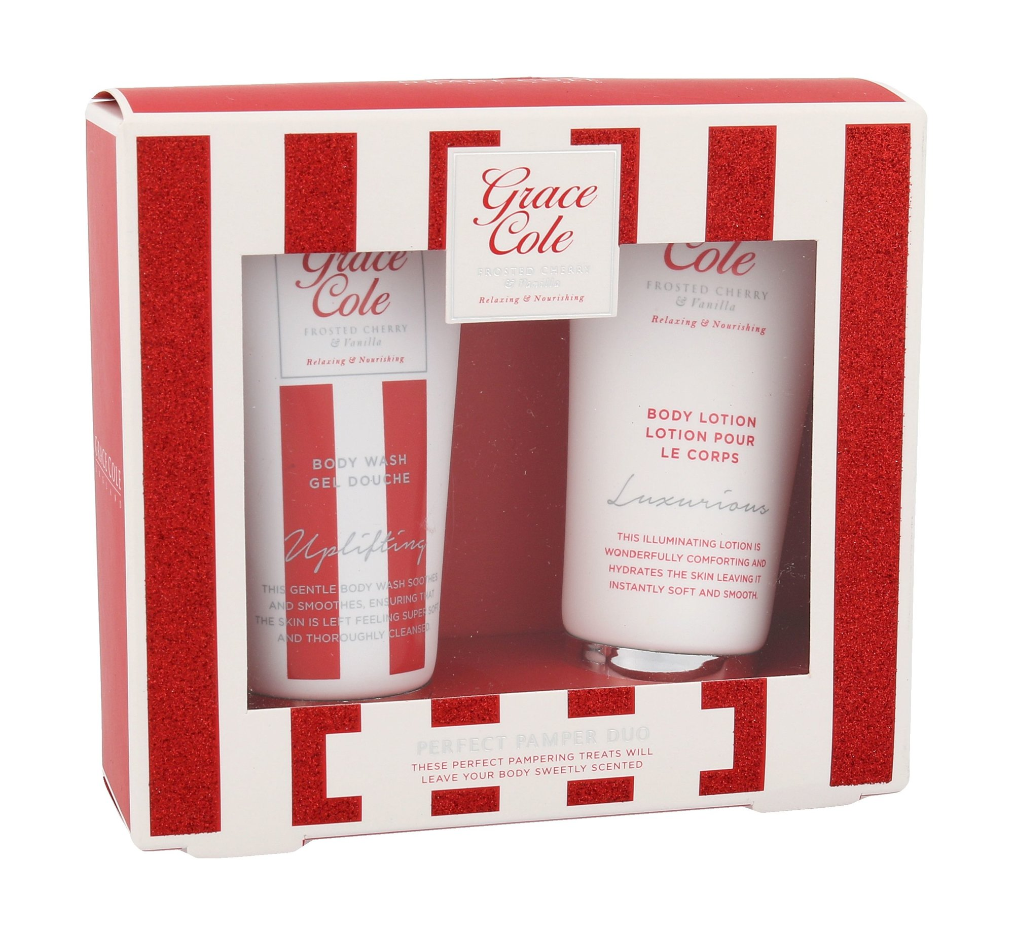 Grace Cole Frosted Cherry & Vanilla Perfect Pamper Duo Kit Cosmetic 50ml