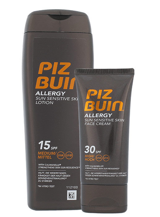 Piz Buin Allergy Sun Sensitive Skin Lotion SPF15 Kit Cosmetic 250ml