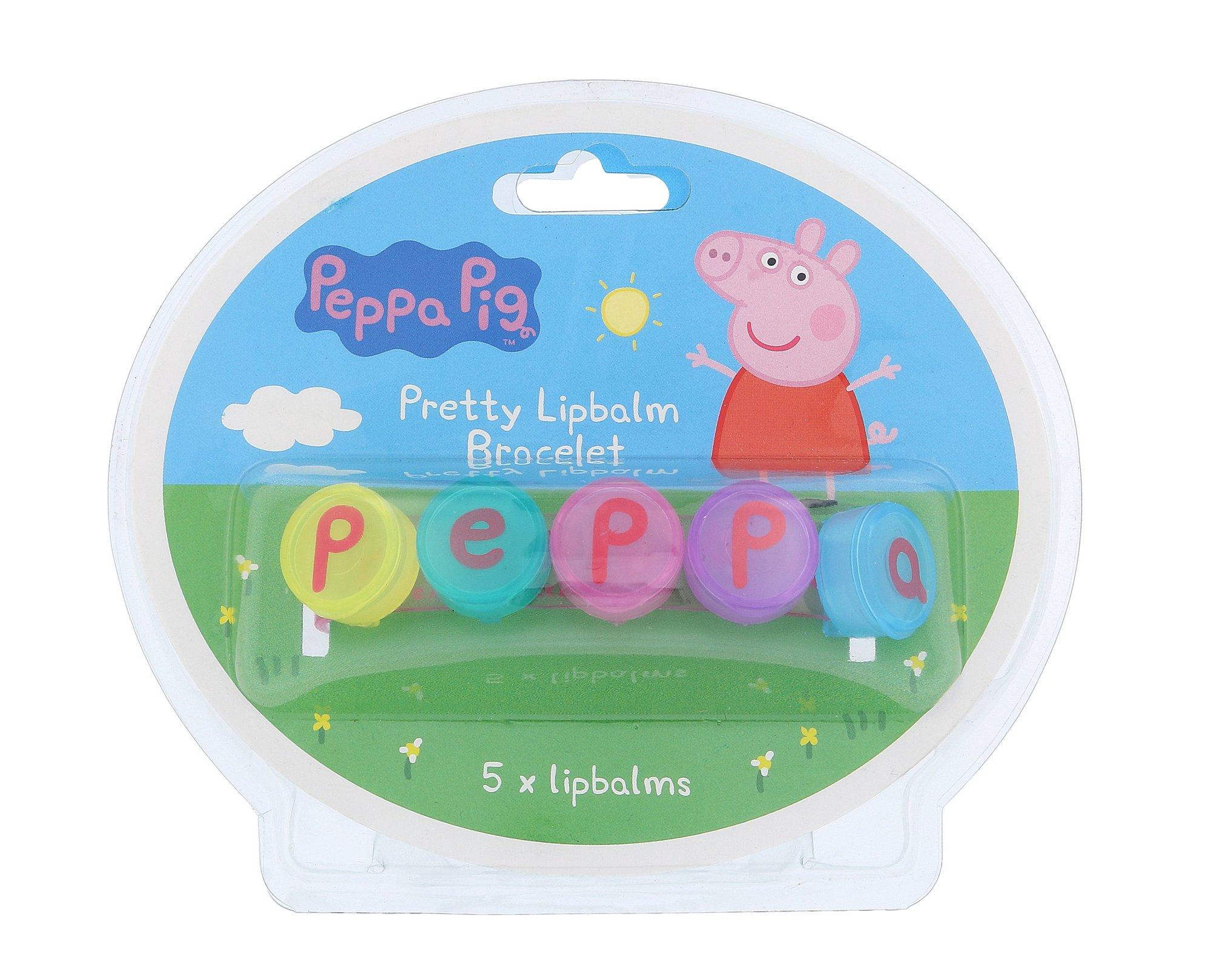 Peppa Pig Pretty Lipbalm Bracelet Cosmetic 5x1g