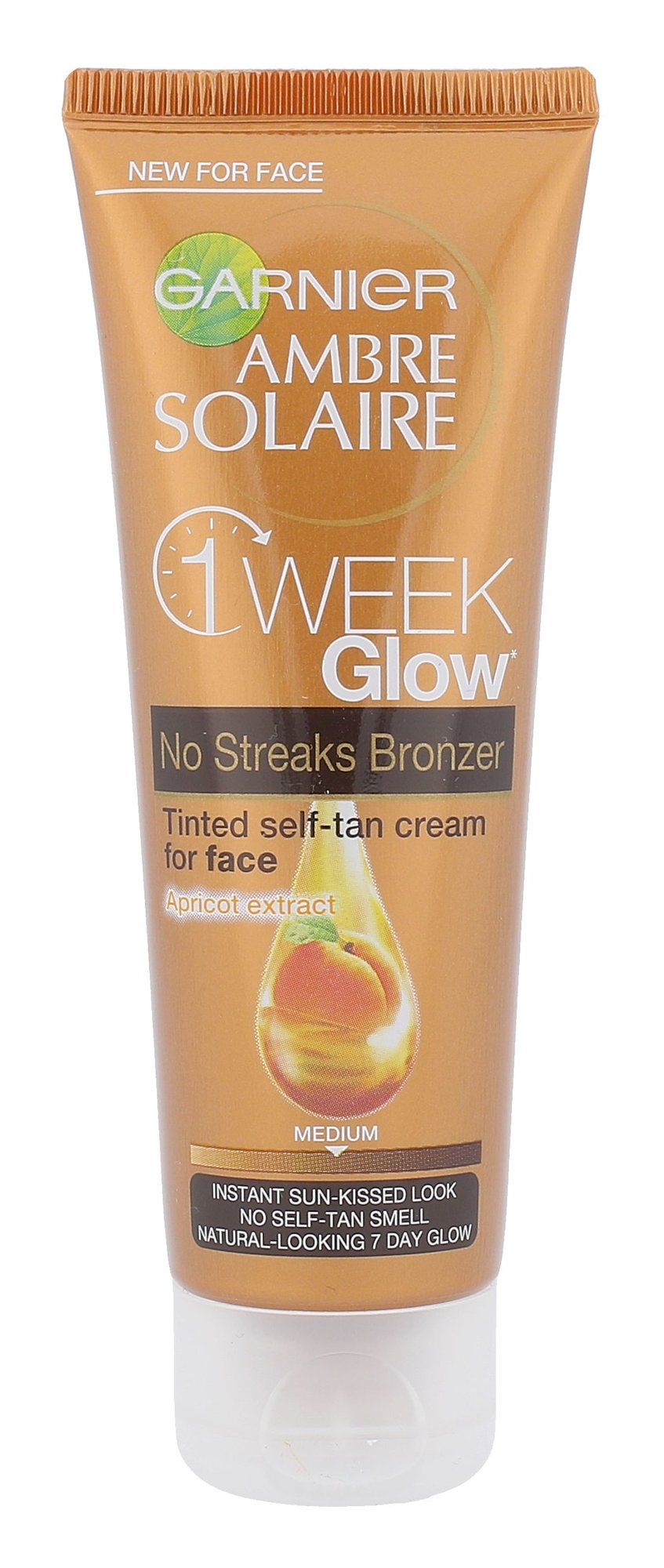 Garnier Ambre Solaire One Week Glow Self-Tan Face Cream Cosmetic 50ml Medium