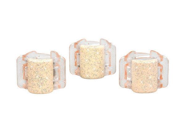 Linziclip Mini Hair Clip Cosmetic 1pc Linen Pearl Glitter