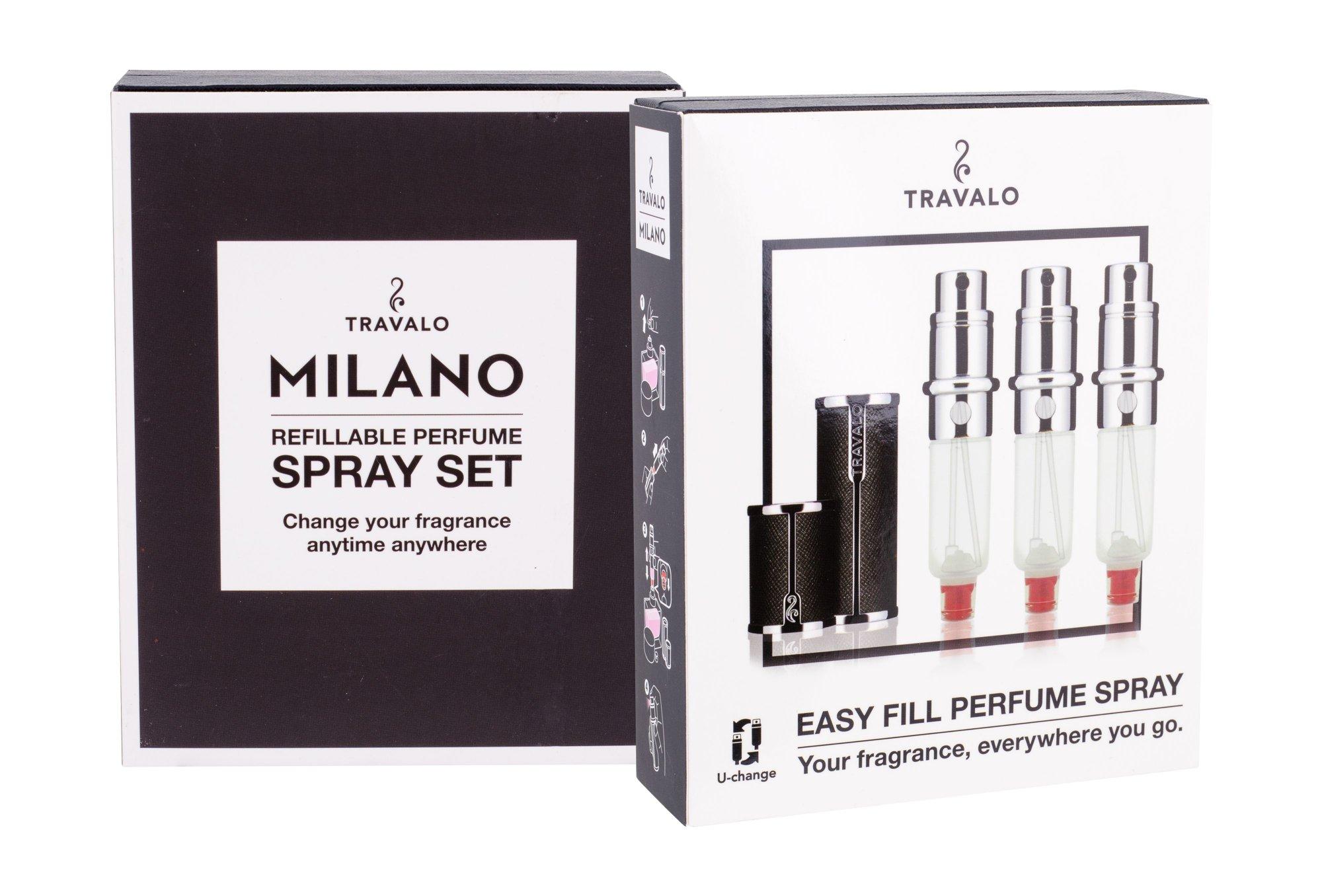 Travalo Milano refillable flacon 3x5ml Black