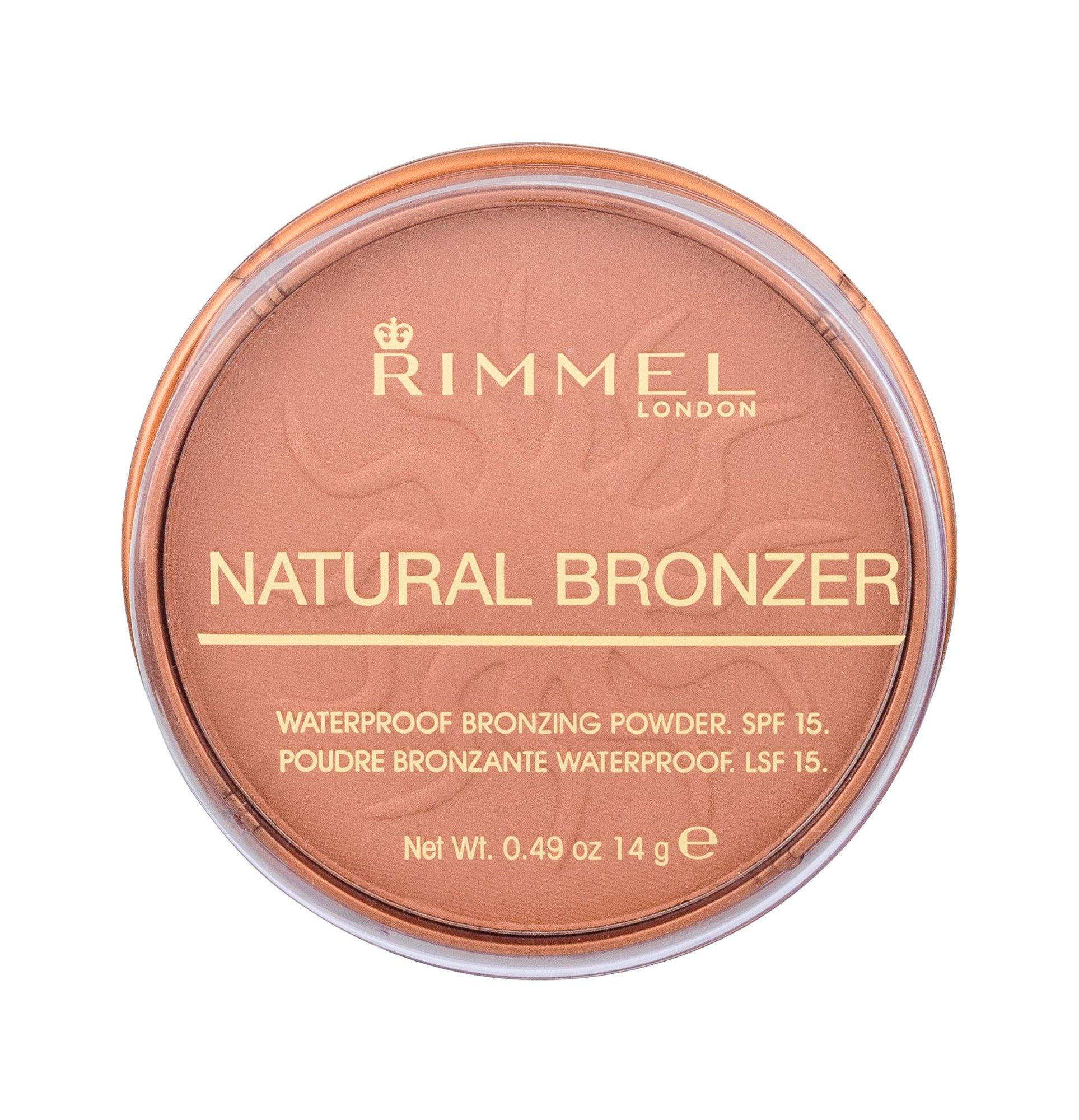 Rimmel London Natural Bronzer Bronzer 14ml 025 Sun Glow