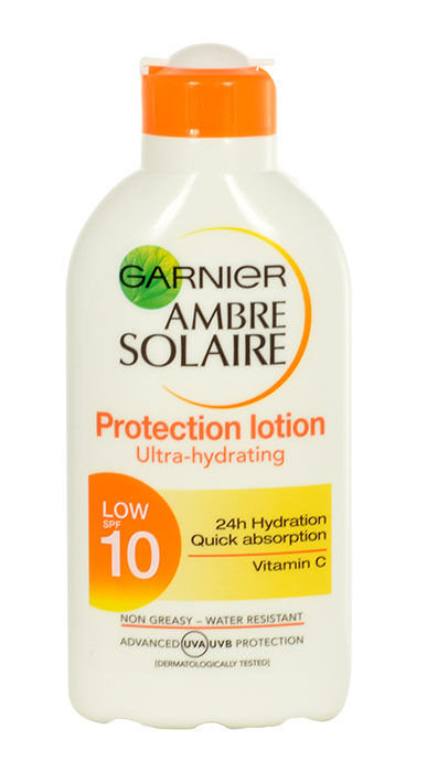Garnier Ambre Solaire Cosmetic 200ml  Protection Lotion Low SPF10