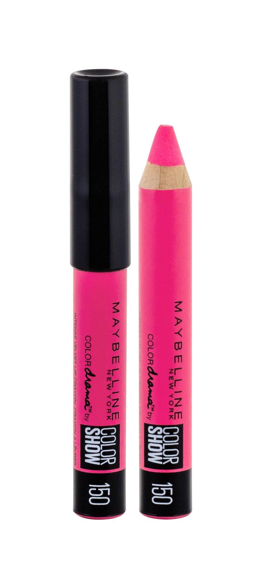 Maybelline Color Drama Intense Velvet Lip Pencil Cosmetic 2g 150 Fuchsia Desire