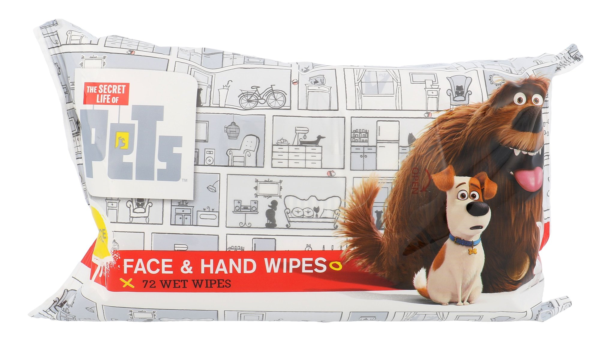 Universal The Secret Life Of Pets Face & Hand Wipes Cosmetic 72ks