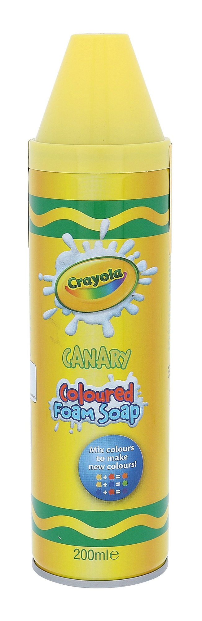 Crayola Coloured Foam Soap Cosmetic 200ml Canary