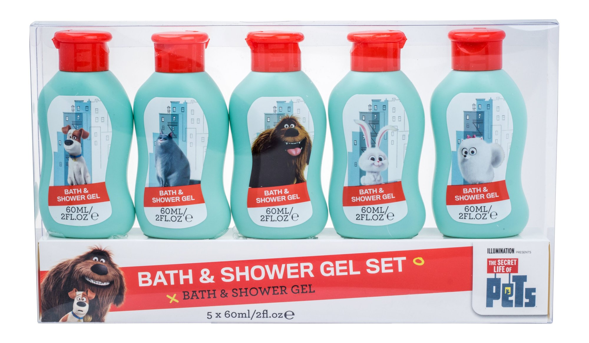 Universal The Secret Life Of Pets Shower gel 5x60ml