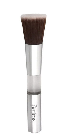 Sefiros Brushes Cosmetic 1ml  Silver Foundation Brush Round