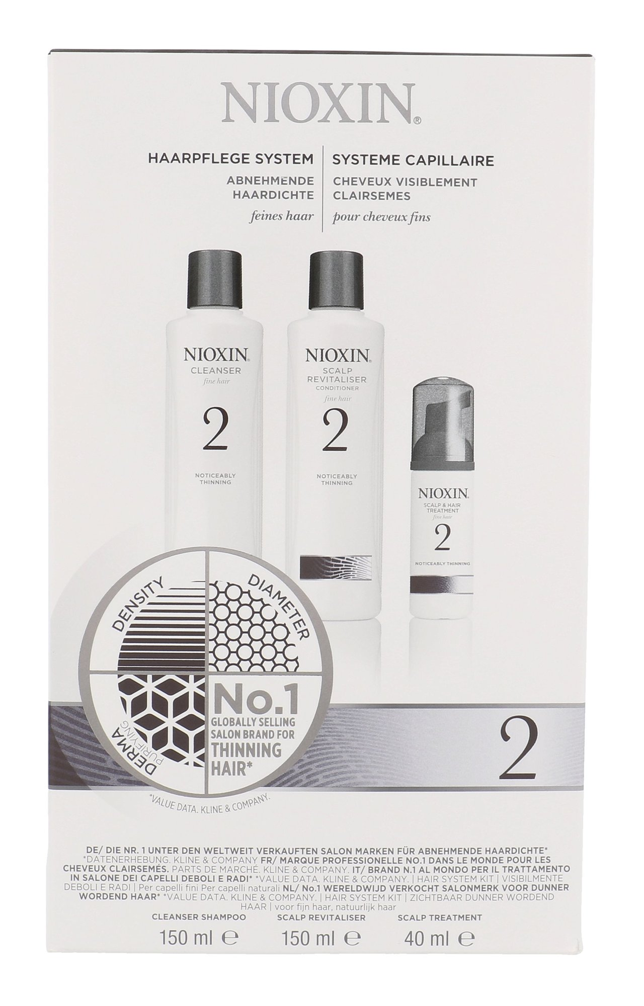Nioxin System 2 Cleanser Shampoo Cosmetic 340ml