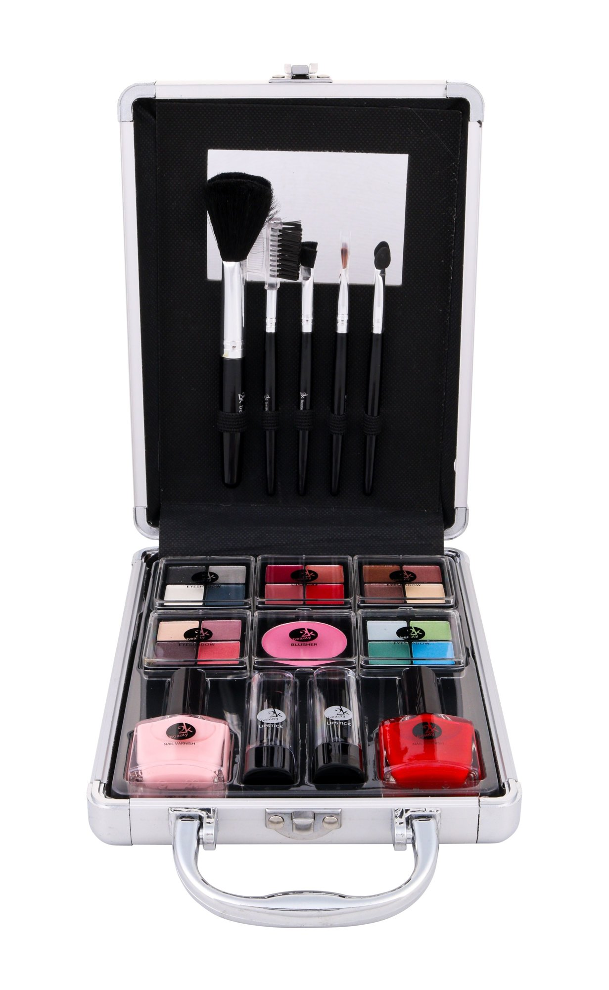 2K Complete Beauty Train Case Cosmetic 27ml