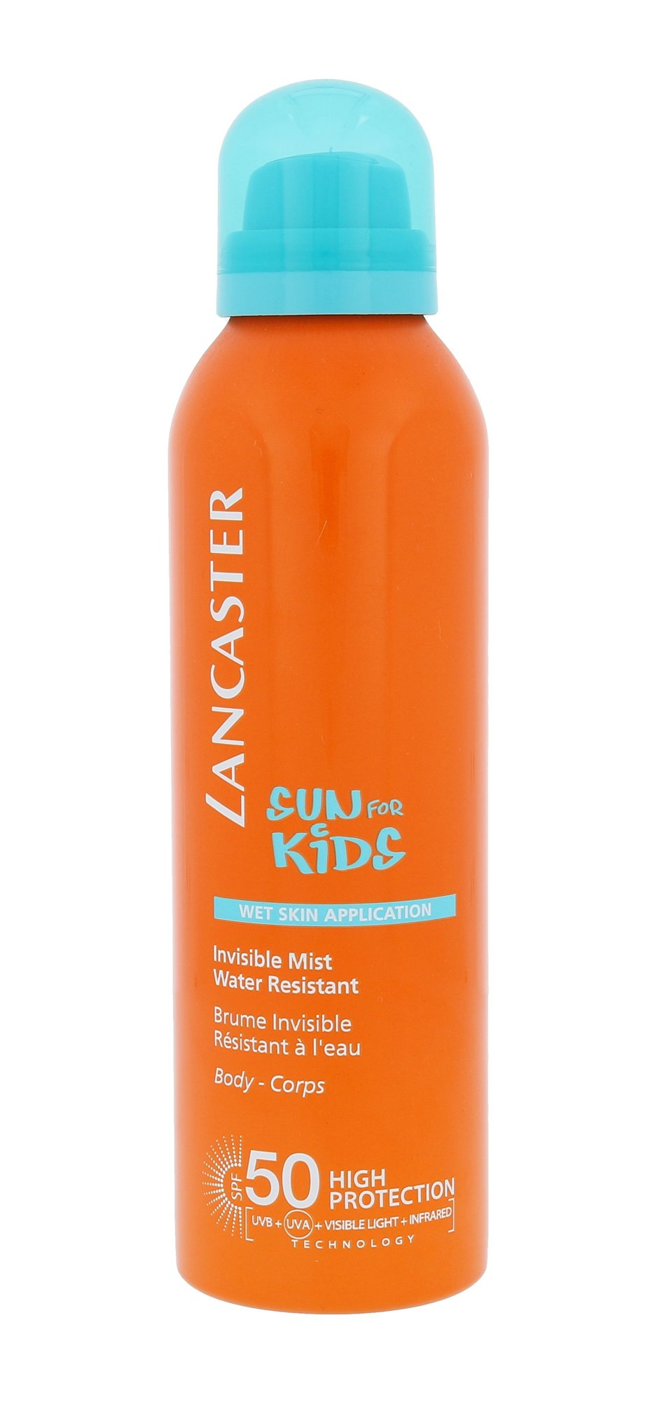 Lancaster Sun For Kids Invisible Mist Water Resistant SPF50 Cosmetic 200ml