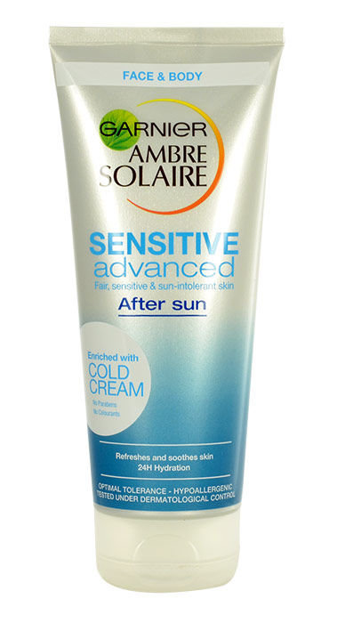 Garnier Ambre Solaire Sensitive Advanced After Sun Cream Cosmetic 200ml