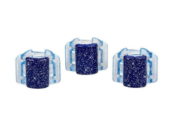 Linziclip Mini Hair Clip Cosmetic 1pc Blue Glitter