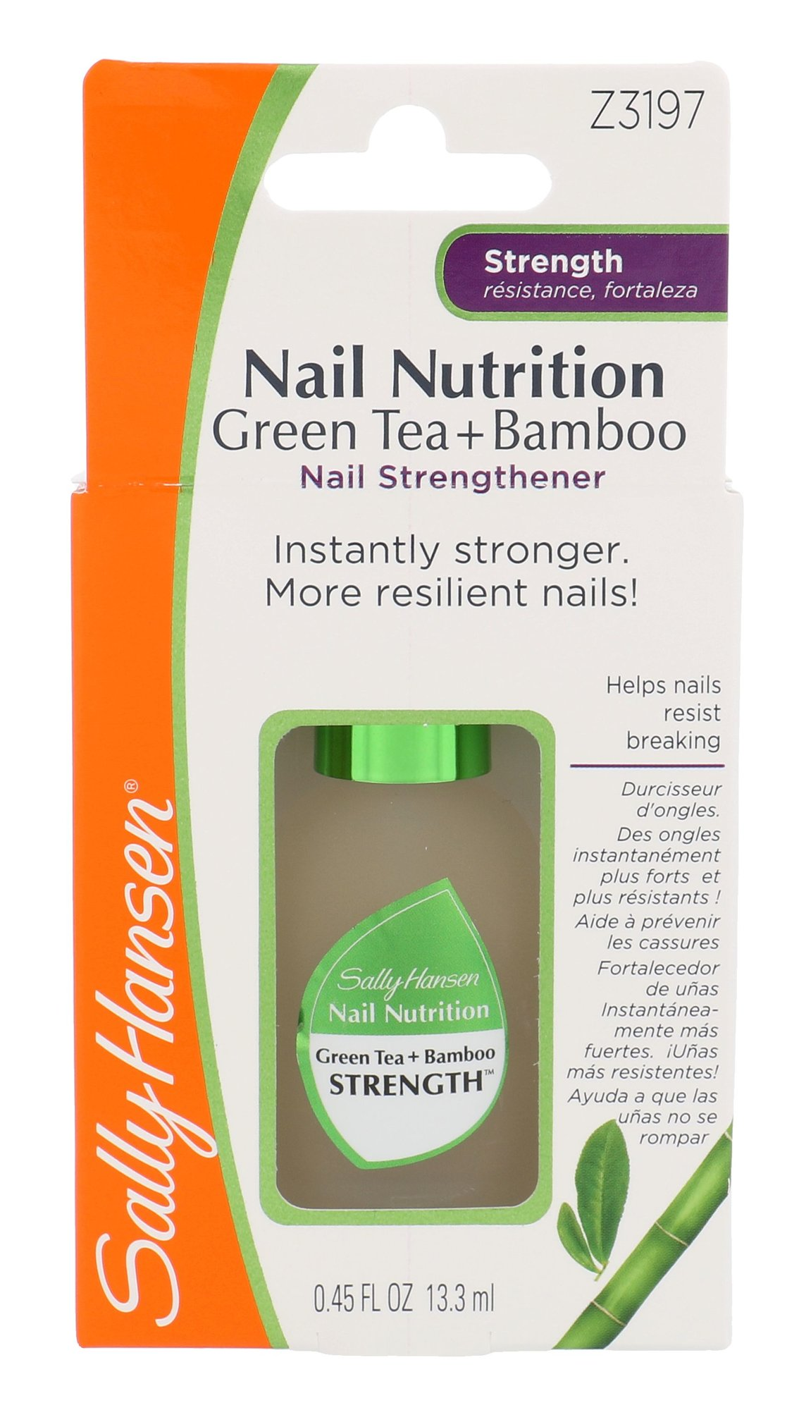 Sally Hansen Nail Nutrition Cosmetic 13,3ml  Green Tea+Bamboo Nail Strengthener