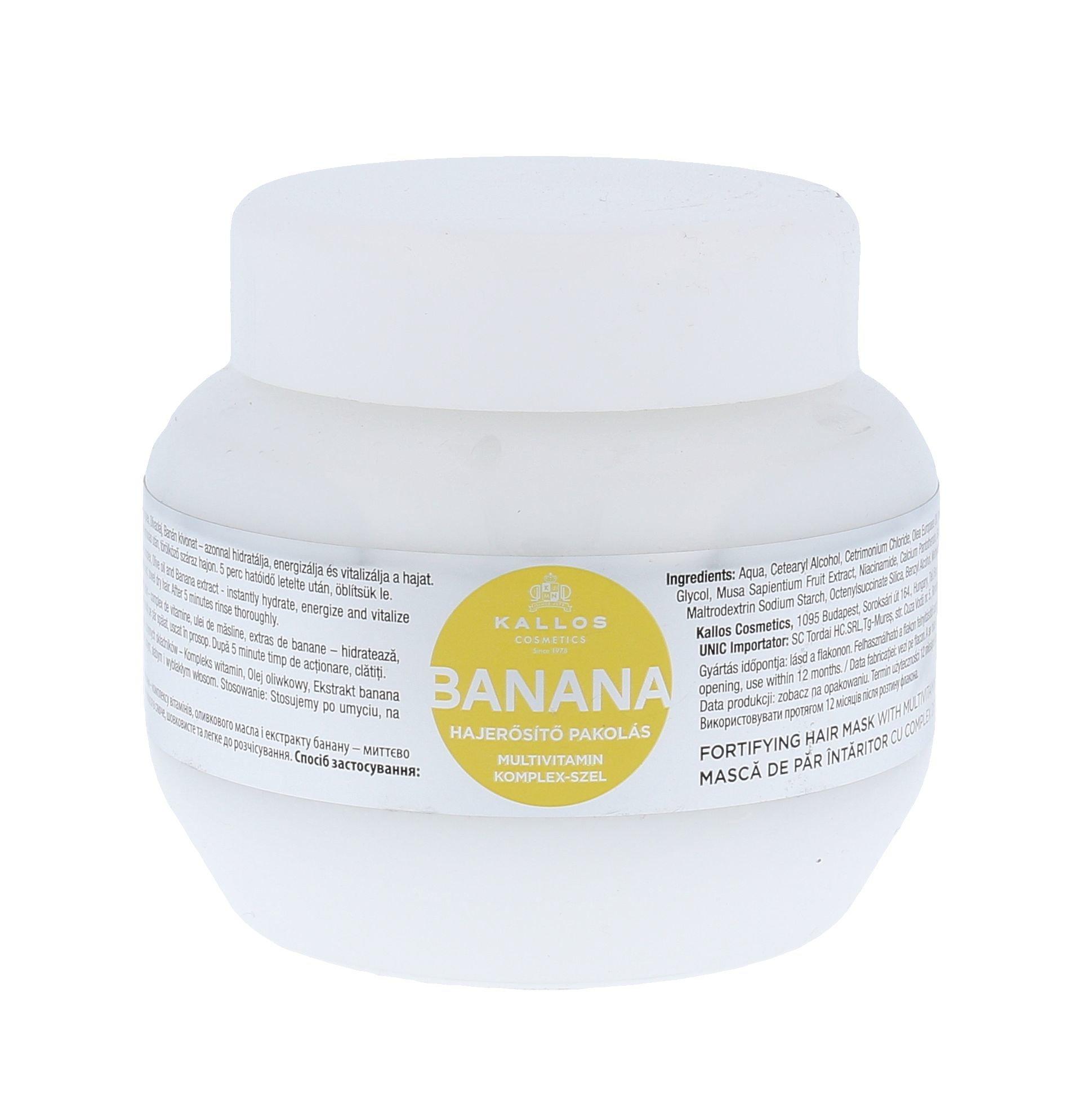 Kallos Banana Fortifying Hair Mask Cosmetic 275ml