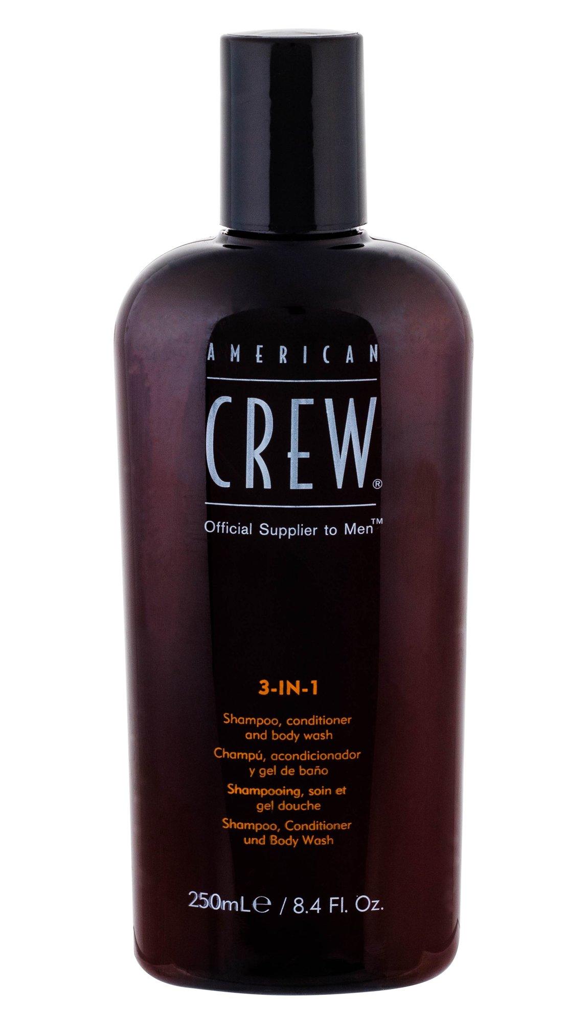 American Crew 3-IN-1 Shampoo, Conditioner & Body Wash Cosmetic 250ml