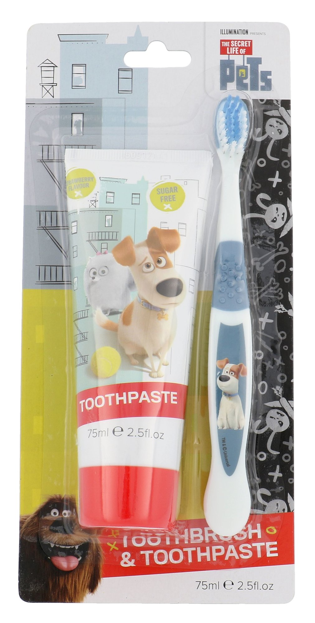 Universal The Secret Life Of Pets Toothpaste Duo Kit Cosmetic 75ml