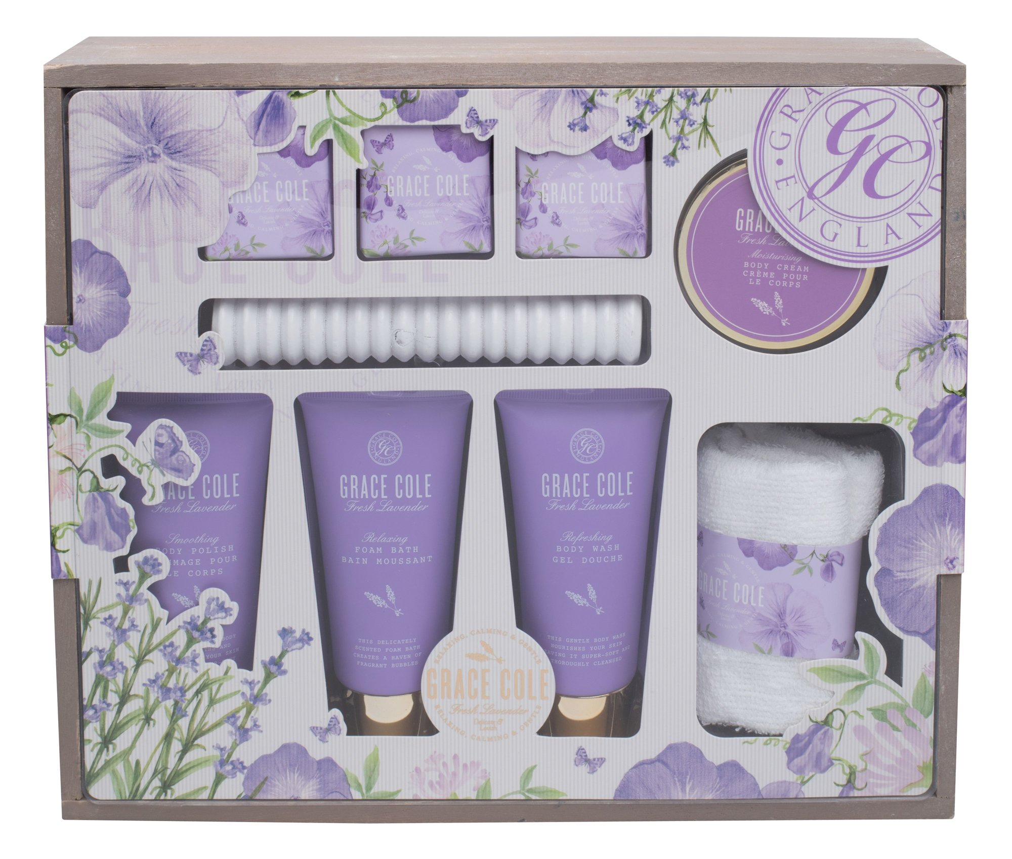 Grace Cole Fresh Lavender Luxury Kit Cosmetic 100ml