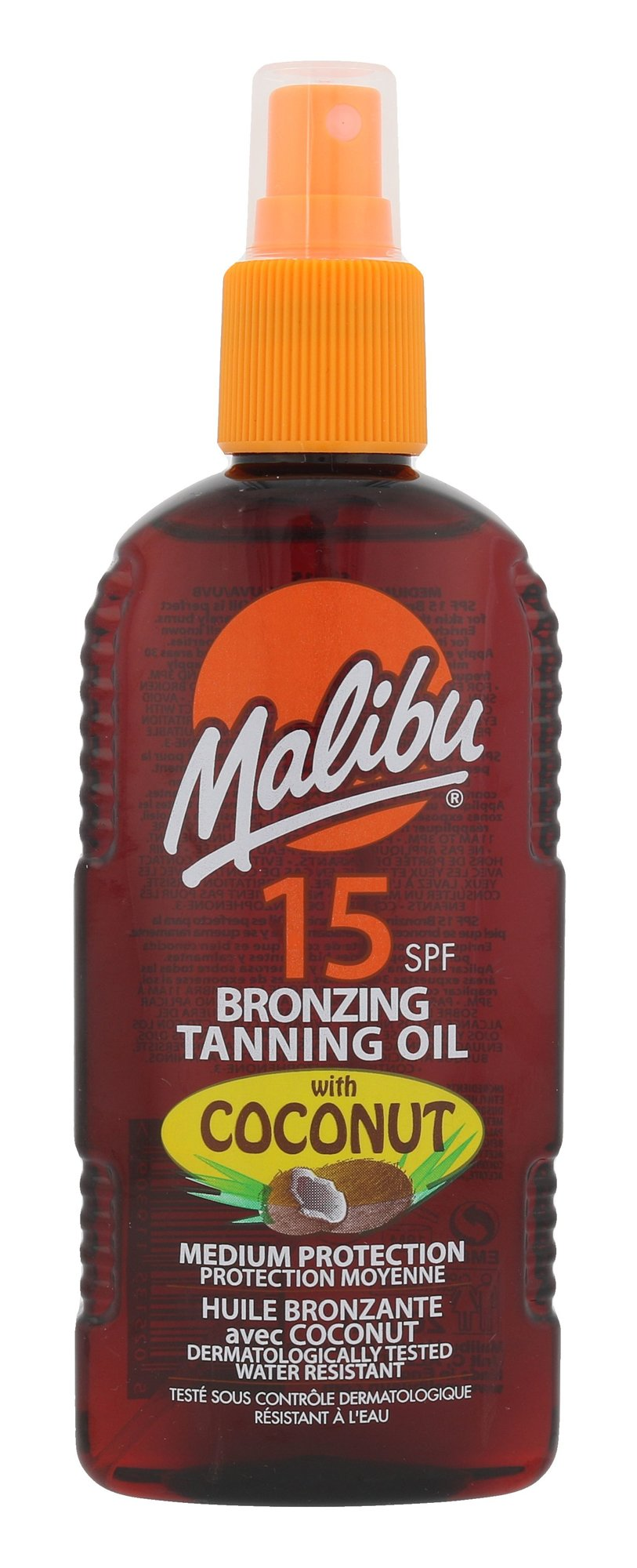 Malibu Bronzing Tanning Oil Cosmetic 200ml  Coconut