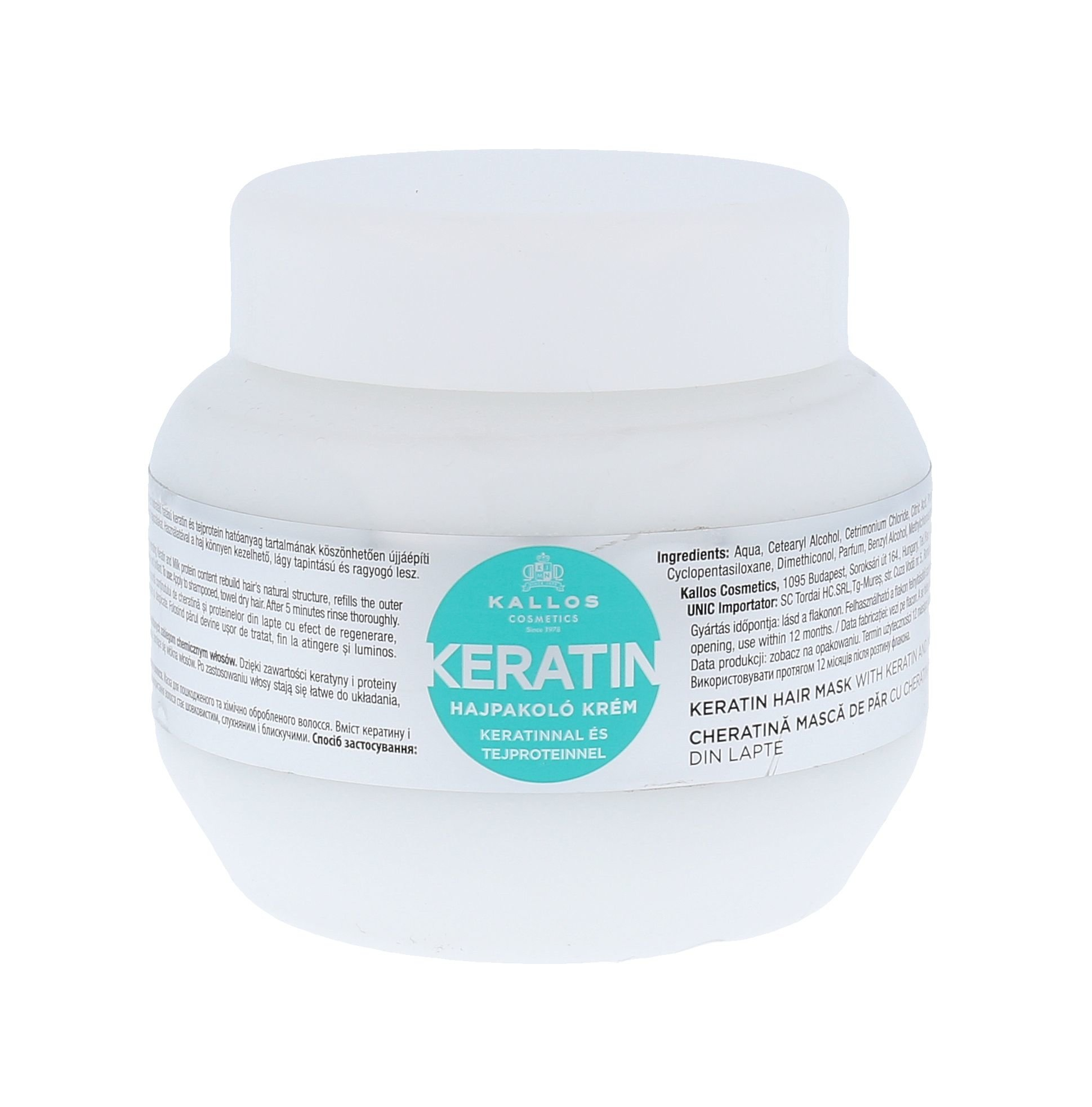 Kallos Keratin Hair Mask Cosmetic 275ml