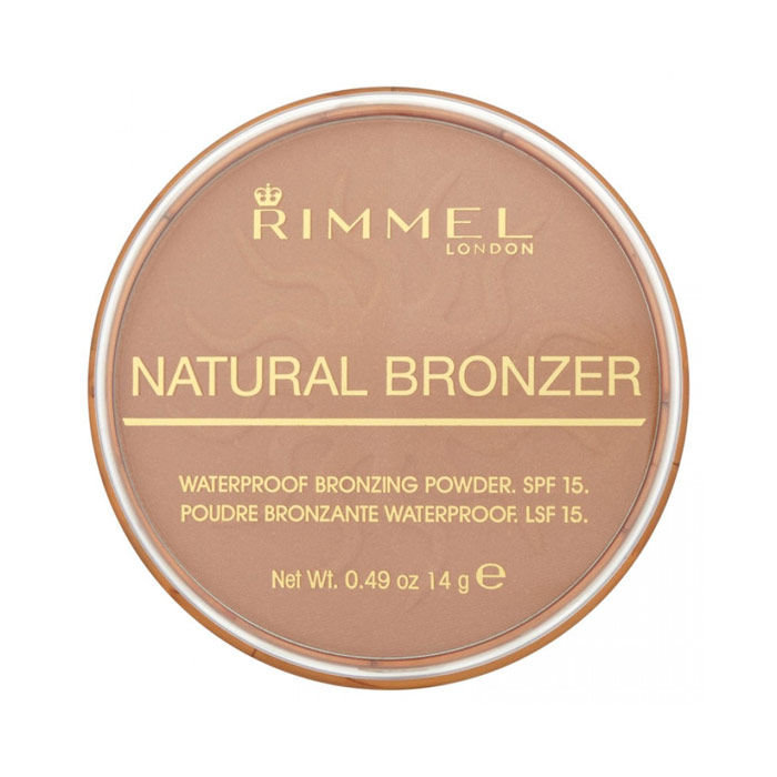 Rimmel London Natural Bronzer Waterproof Bronzing Powder SPF15 Cosmetic 14g 021 Sun Light