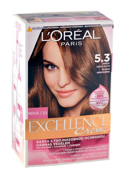 L´Oréal Paris Excellence Creme Cosmetic 192ml 5,3 Natural Golden Brown