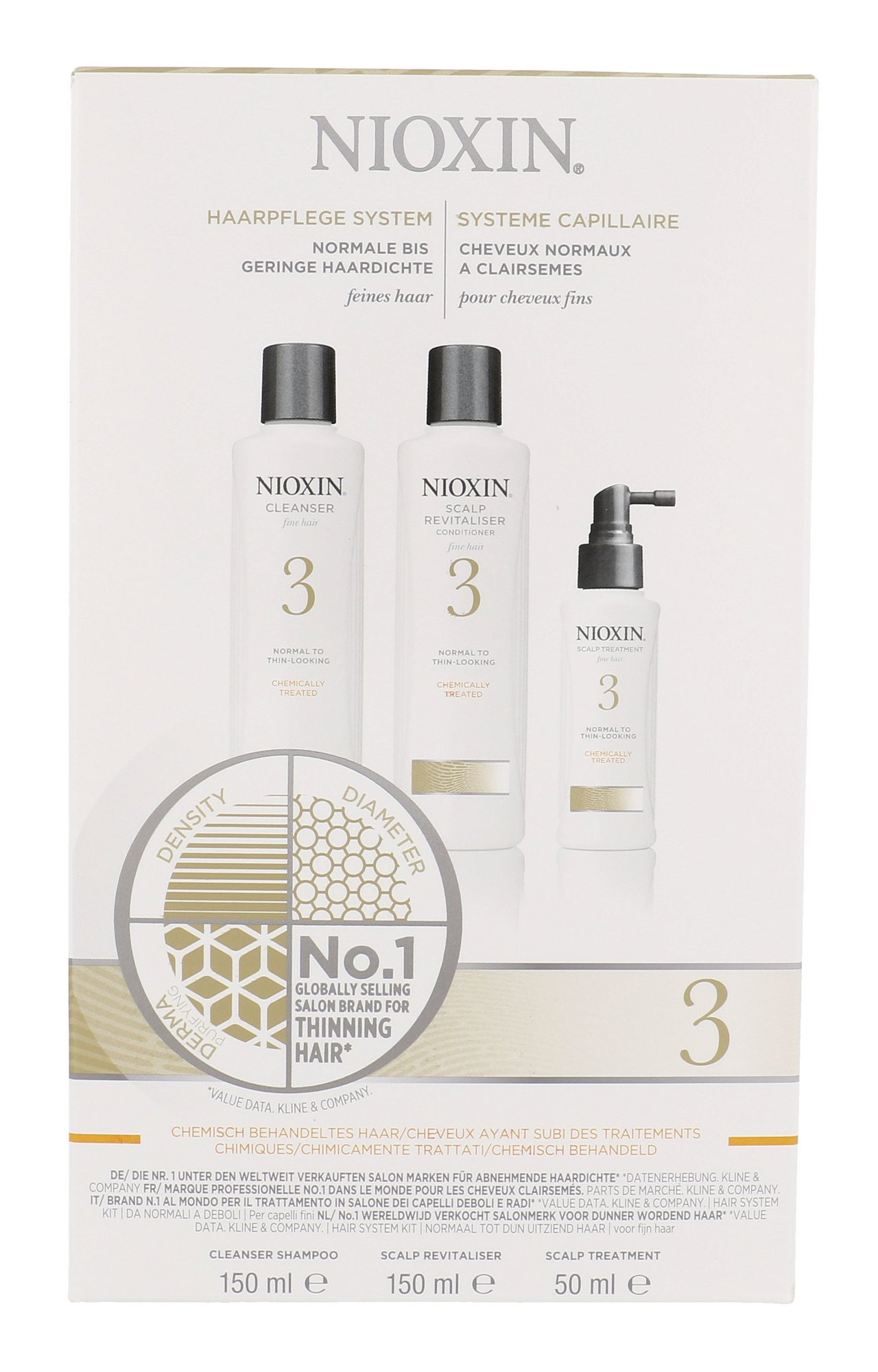 Nioxin System 3 Cleanser Shampoo Cosmetic 350ml