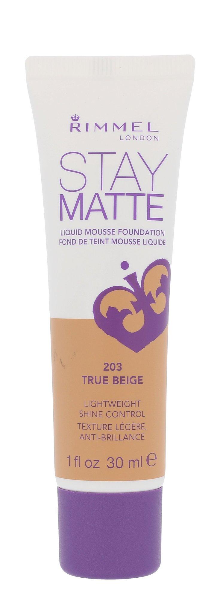 Rimmel London Stay Matte Cosmetic 30ml 203 True Beige