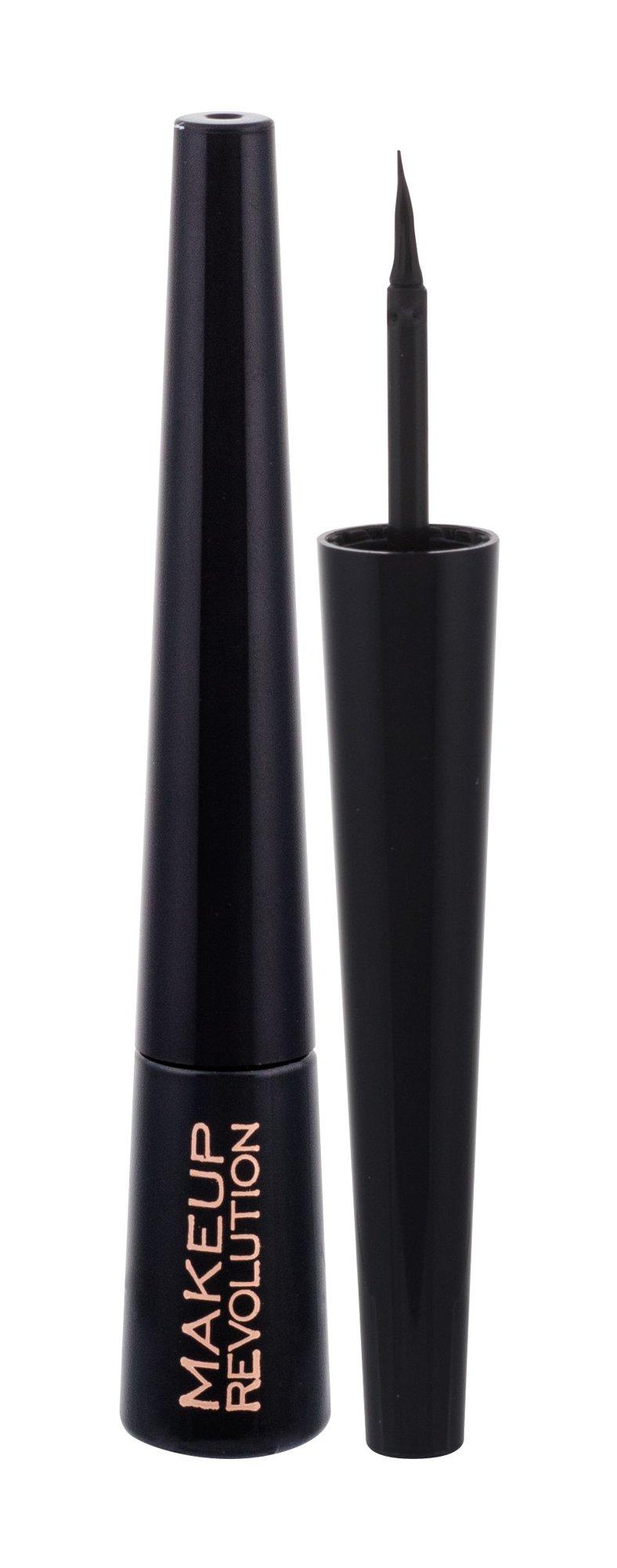 Makeup Revolution London Liquid Eyeliner Cosmetic 3ml Ultra Black