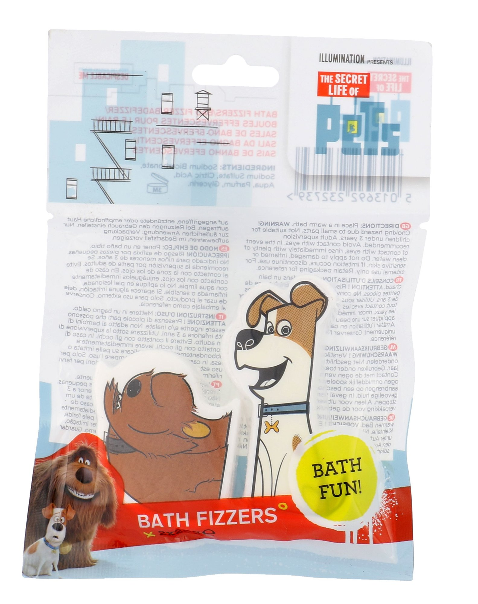 Universal The Secret Life Of Pets Bath Fizzers Cosmetic 20g