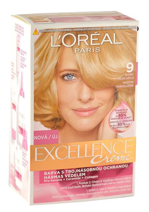 L´Oréal Paris Excellence Creme Cosmetic 1ml 9 Natural Light Blonde