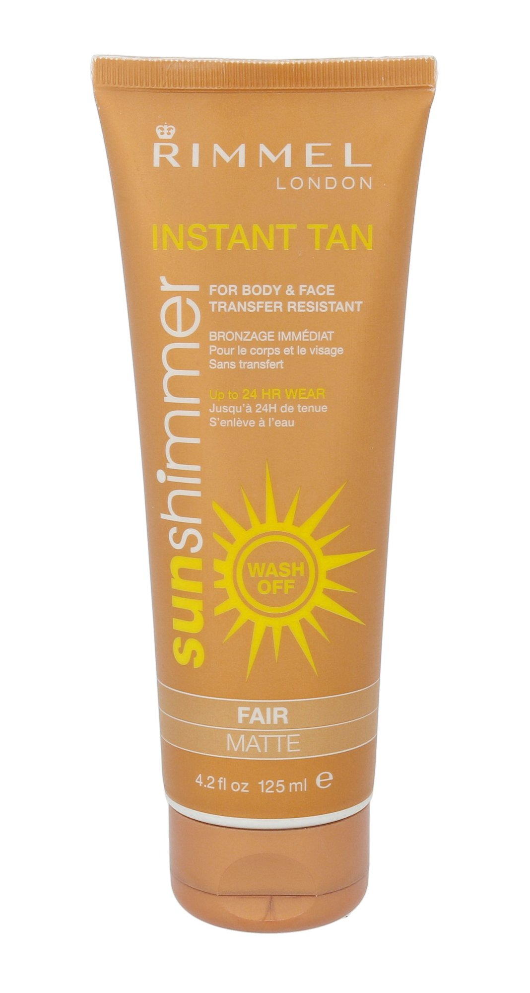 Rimmel London Sun Shimmer Instant Tan Cosmetic 125ml Fair Matte