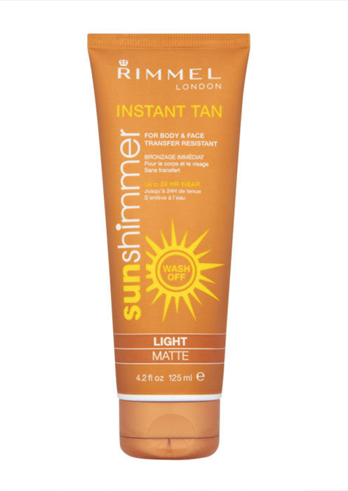 Rimmel London Sun Shimmer Instant Tan Cosmetic 125ml Light Shimmer
