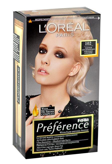 L´Oréal Paris Préférence Cosmetic 174ml 102 Iridescent Pearl Blonde
