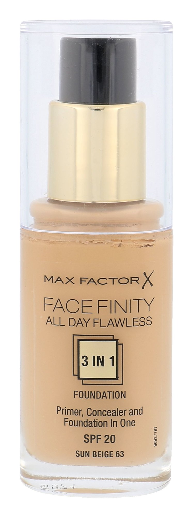 Max Factor Facefinity Cosmetic 30ml 63 Sun Beige