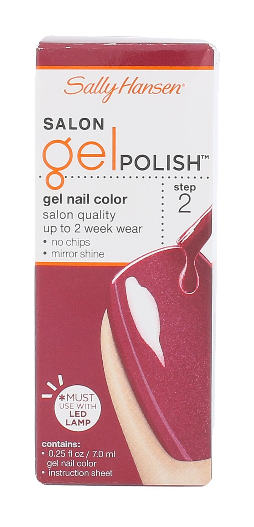 Sally Hansen Salon Gel Polish Cosmetic 7ml 230 Wine Not Step 2
