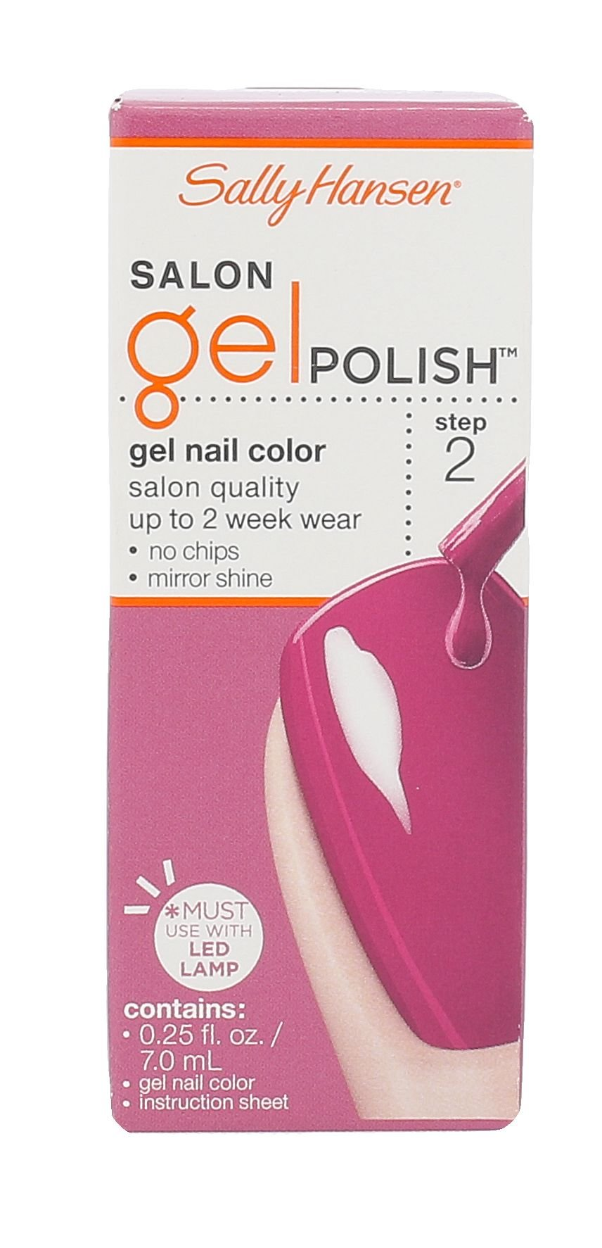 Sally Hansen Salon Gel Polish Cosmetic 7ml 245 Cherry, Cherry Bang, Bang! Step 2