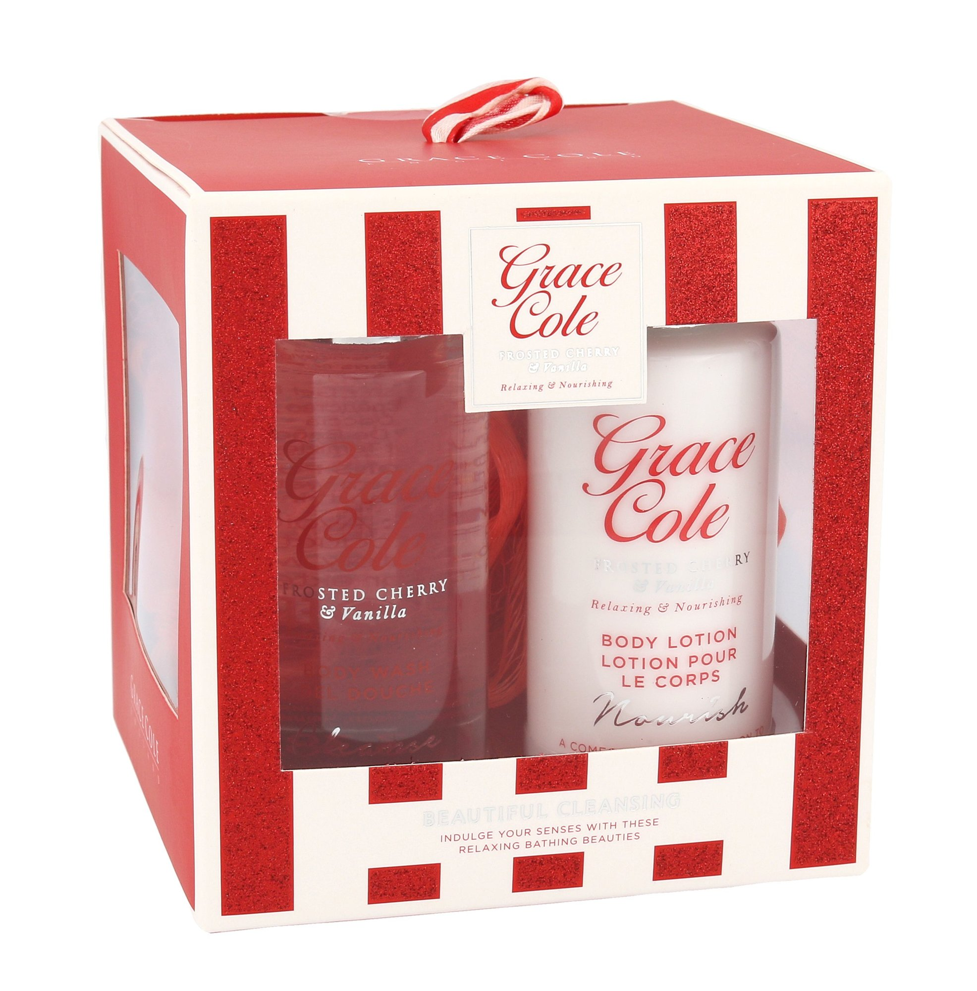 Grace Cole Frosted Cherry & Vanilla Beautiful Cleansing Kit Cosmetic 100ml