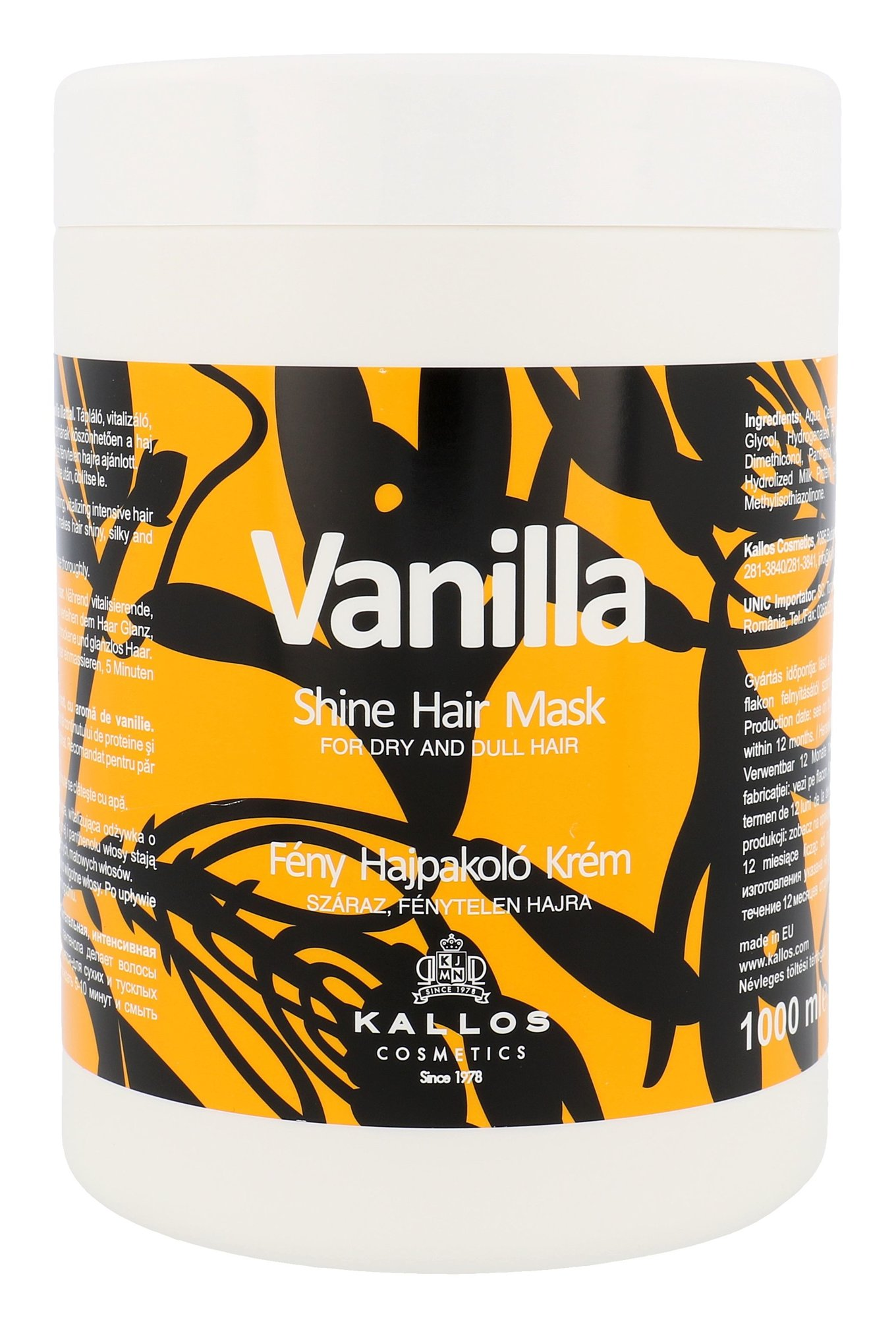 Kallos Cosmetics Vanilla Cosmetic 1000ml