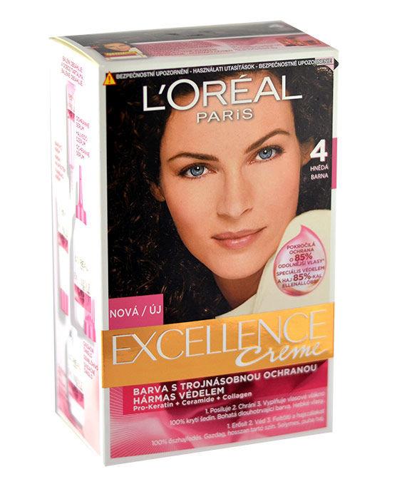 L´Oréal Paris Excellence Creme Cosmetic 1ml 4 Brown