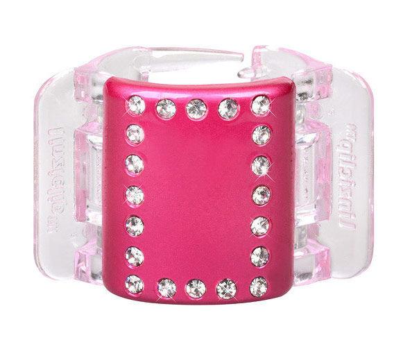 Linziclip Midi Hair Clip Cosmetic 1ks Pink Pearl Crystal