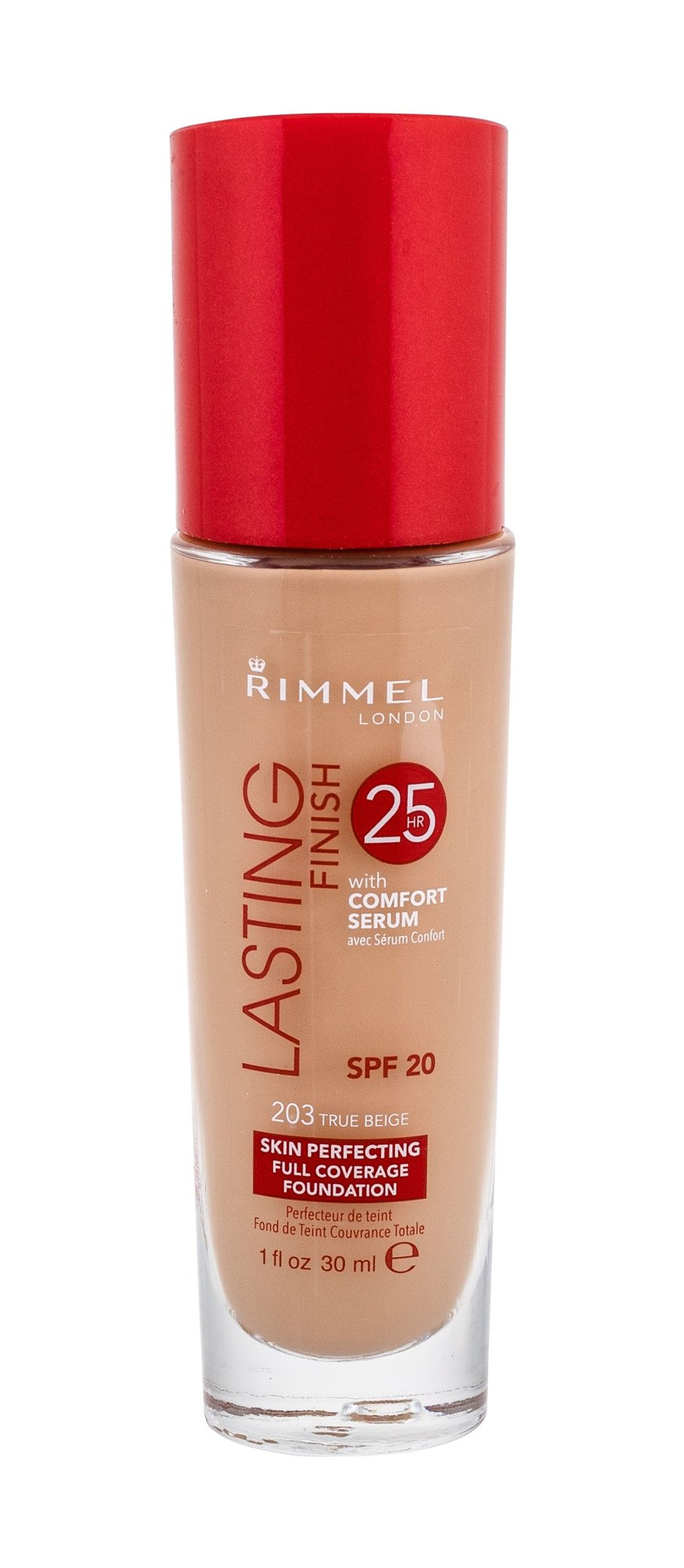 Rimmel London Lasting Finish 25h Foundation Cosmetic 30ml 203 True Beige