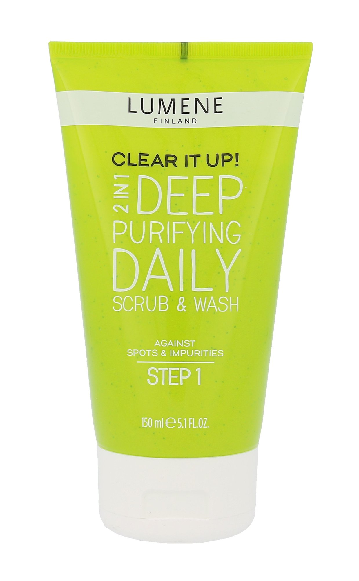 Lumene Clear It Up! Cosmetic 150ml  Deep Purifying Daily Scrub & Wash 2in1