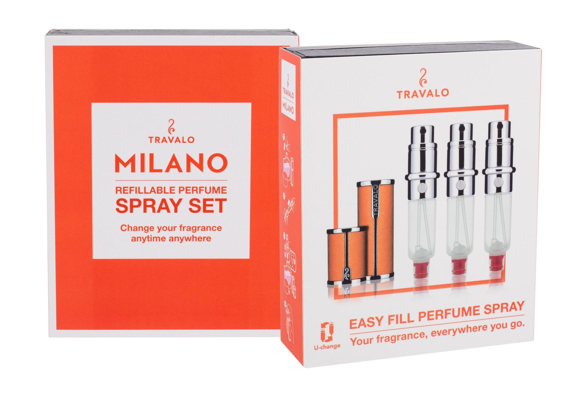 Travalo Milano refillable flacon 3x5ml Orange