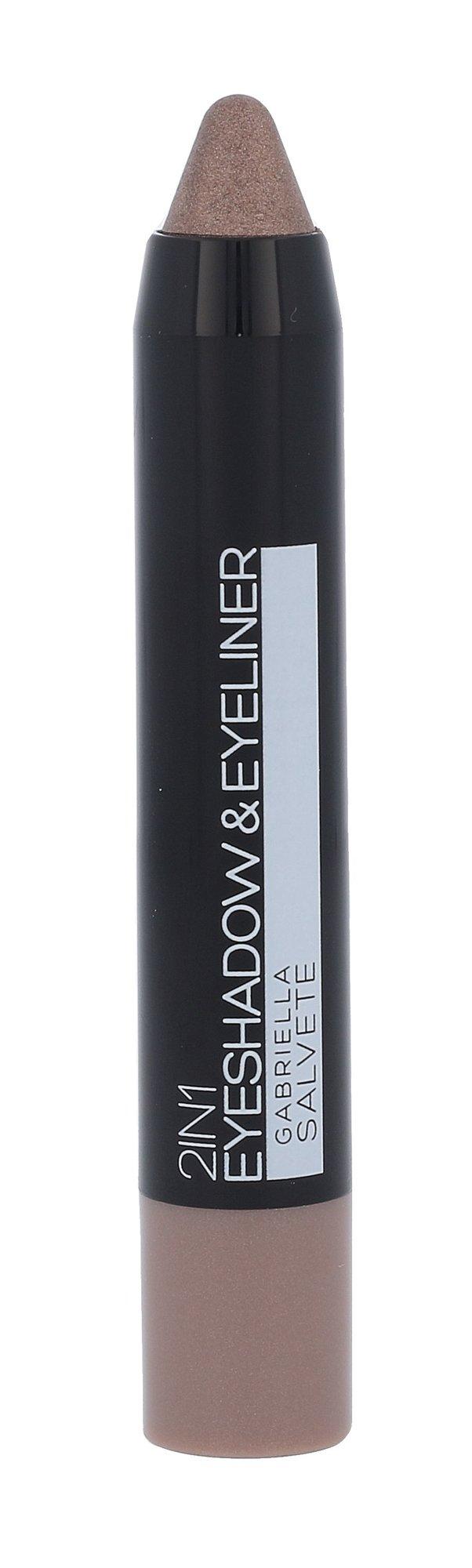 Gabriella Salvete Eyeshadow & Eyeliner 2in1 Cosmetic 3,5g 04 Metallic Beige