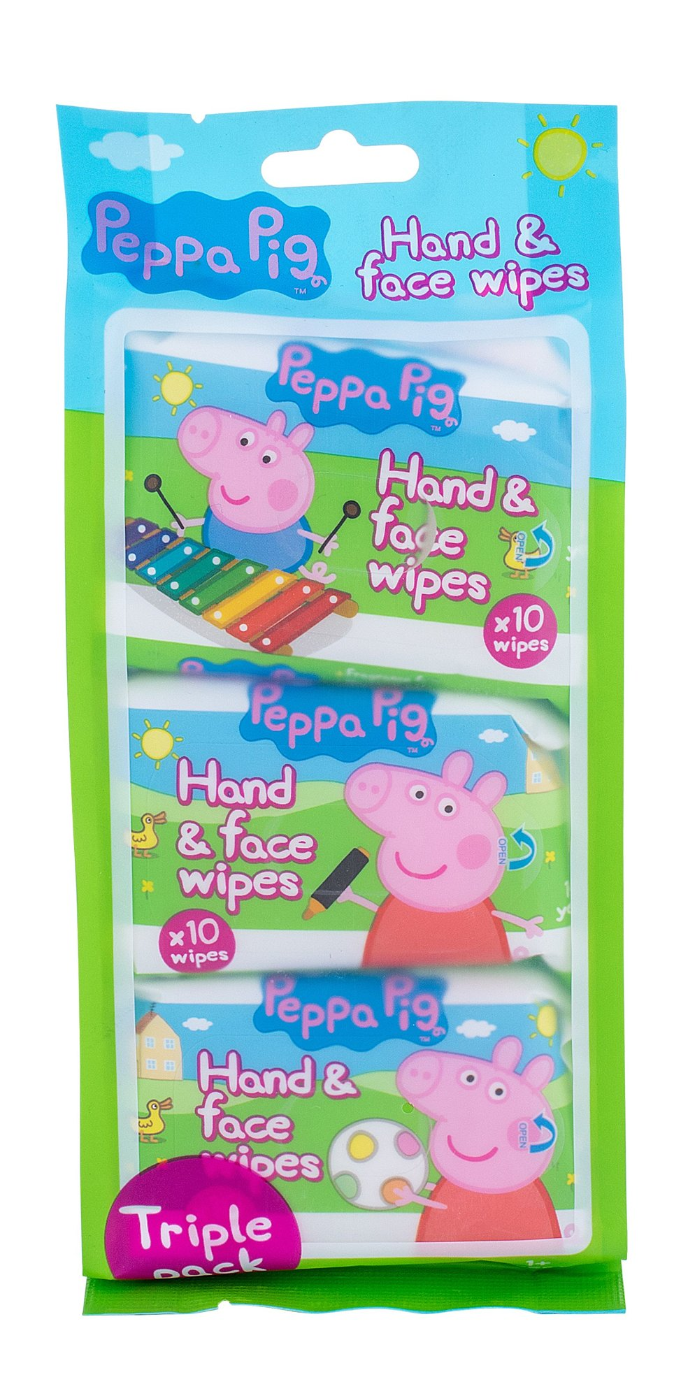 Peppa Pig Hand & Face Wipes Cosmetic 3x10ks