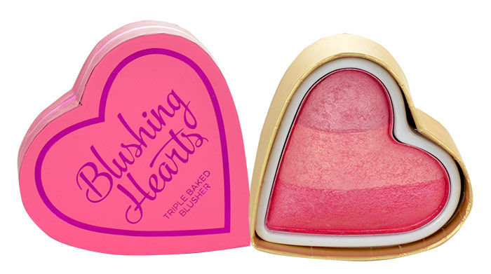 Skaistalas Makeup Revolution London I Love Makeup Blushing Hearts Triple Baked Blusher